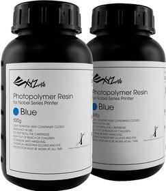 RUGNRXTW04K, Фотополимерная смола, синяя, материал печати для 3D-принтера Nobel 1.0, в коробке 2 бутылки по 500 м