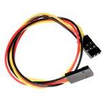3 pin dual-female jumper wire - 250mm, 3-х проводной ...