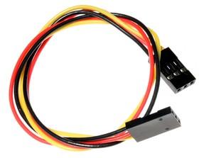 Фото 1/2 3 pin dual-female jumper wire - 250mm, 3-х проводной соединительный провод (F-F)