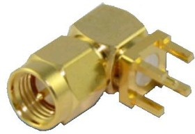 HYR-1149, Разъем SMA, штекер на плату угловой