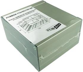 PCBBOX-112x59x100-SR, Корпус приборный алюминиевый анодированный серебристый 112x59x100