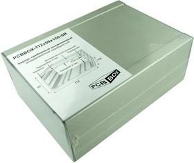 PCBBOX-112x59x150-SR, Корпус приборный алюминиевый анодированный серебристый 112x59x150