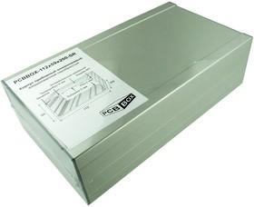 PCBBOX-112x59x200-SR, Корпус приборный алюминиевый анодированный серебристый 112x59x200
