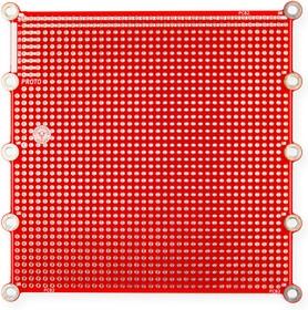 Фото 1/2 PCB2, Печатная макетная плата 108,5x108,5, двухсторонняя с металлизацией, с крепежными отверстиями