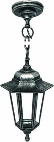 11-98 НСУ 06-60-001 АДЕЛЬ1 СЕР Светильник-фонарь подвесной серебро 6-гранный прозрачное стекло