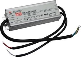 HVGC-65-500AB, Блок питания импульсный, LED, 65Вт, 13-130ВDC, 300-500мА, IP65