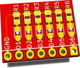 Печатная плата RDC1-0011, Печатная плата с разводкой, FR4 17.8х14мм (1.5мм, 18мкм)