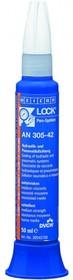 Weicon AN 305-42 (50мл) Однокомпонентный, анаэробный клей-герметик (метакрилат). Средняя прочность, низкая вязкость. Промежуток мах. 0,15мм.
