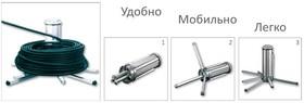 Uniroller-100 Портативное устройство для размотки кабеля в бухтах