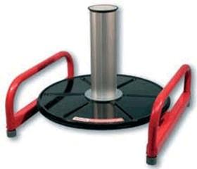 Uniroller-200-PLUS Устройство для размотки кабеля в плотных бухтах (внутр. диаметр бухты  100мм ) в комплекте с 4-мя колёсными опорами