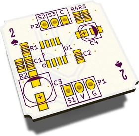 Печатная плата TM2Pv2, Печатная плата с разводкой, FR4 25.8016х28.8мм (1.5мм, 18мкм)