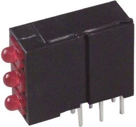 570-0100-111F, LED Tri-Level Uni-Color Red 635nm 6-Pin Bulk