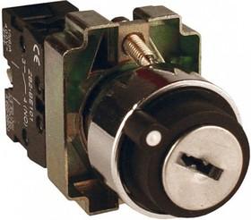 Переключатель XB2-BG21 черный 2 положения с ключом 1НО (ANDELI)