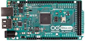 Фото 1/2 Arduino Mega ADK R3, Программируемый контроллер на базе ATmega2560, USB-host, поддержка устройств на базе Android