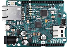 Фото 1/3 Arduino Leonardo ETH, Программируемый контроллер на базе ATmega32U4, поддержка Ethernet-соединения