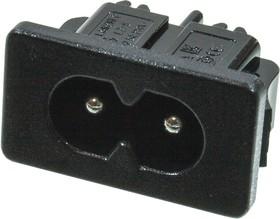 KLS1-AS-222-5L, вилка сетевая на корпус 250В, 2.5А