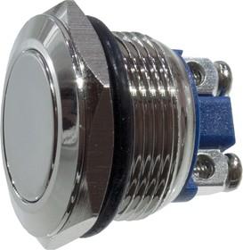 KLS7-PBS-014D, кнопка металл.OFF-(ON) 250В 2А D=22мм винт. клем.