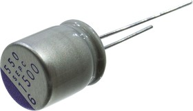 6SEPC1500M, 1500 мкф 6.3 В -55+105гр 10х13 5000h