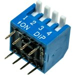 KLS7-DP-04-B-00 DIP переключатель 4 поз.уг.90 (SWD3-4)