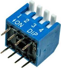 L-KLS7-DP-04-B-00, DIP переключатель 4 поз.уг.90 (аналог SWD3-4)