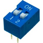 L-KLS7-DS-02-B-00, DIP переключатель 2 поз.(аналог SWD 1-2 ...