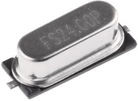 Фото 1/3 FOXSDLF/240F-20, Crystal 24MHz ±30ppm (Tol) ±50ppm (Stability) 20pF 2-Pin HC-49/SDLF SMD T/R
