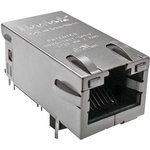 0826-1G1T-43-F, RJ45 CONNECTOR, JACK, 8P8C, 1PORT, TH