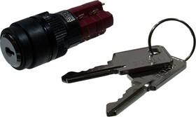 ADD16K6-AR0-2A, кнопка ключ.с фик. 250В/5А
