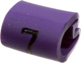 """EC0211-000, 05811707, маркер """"1"""" на кабель 2-3.2мм фиолетовый"""