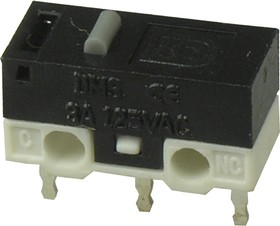 DM3-00P-110G-G, микропереключатель 125В 3A