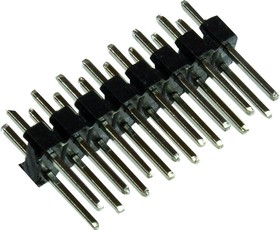 PLD-16, вилка штыревая 2.54мм 2x8 прям.