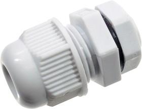 L-KLS8-0616-MG-12-W, кабельный ввод Nylon IP68 4.6-7.6mm (аналог AG-12L) белый