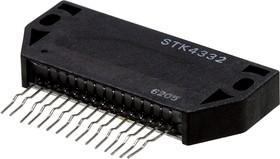 STK4332, Двухканальный аудиоусилитель, 2 х 5Вт, 23В, 8 Ом