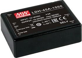 LDH-45B-700, DC/DC LED Driver, 45Вт, вх 18-32В, вых 21-64/700мА, преобразователь для светодиодного освещения
