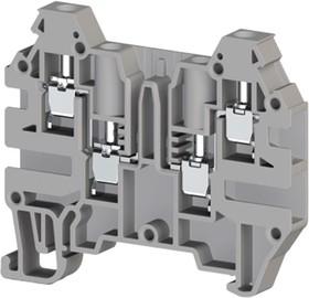AVK2.5CF (серый), Клемма 4-х выв., с зоной размыкания, 2,5 мм.кв.