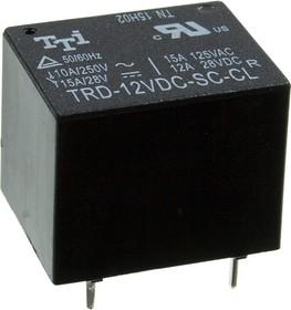 Фото 1/4 TRD-12VDC-SC-CL-R, реле 15A 125VAC /12A 28VDC