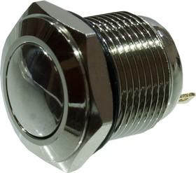 KLS7-PBS-M16-02D кнопка металл.OFF-(ON) 36В 2А D=18мм нож. клем.