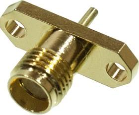 KLS1-SMA025 разъем SMA вилка на блок под пайку, 2 винта, 50Ом (М)