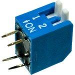 KLS7-DP-02-B-00 DIP переключатель 2 поз.уг.90 (SWD3-2)