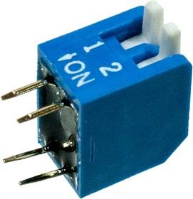 L-KLS7-DP-02-B-00, DIP переключатель 2 поз.уг.90 (аналог SWD3-2)