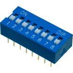 L-KLS7-DS-08-B-00, DIP переключатель 8 поз.(аналог SWD 1-8 ...