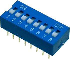 L-KLS7-DS-08-B-00, DIP переключатель 8 поз.(аналог SWD 1-8 ВДМ 1-8)