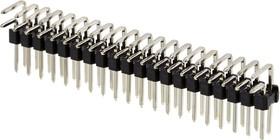 PLD-40R, тип2 вилка штыревая 2.54мм 2x20 угл. 13x8мм (L-KLS1-207-2-40-R1)