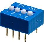 L-KLS7-DS-04-B-00, DIP переключатель 4 поз.(аналог SWD 1-4 ...