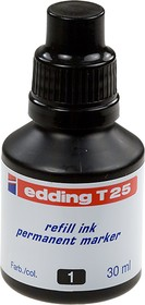 Edding T-25, чернила для перезаправки маркеров Edding 400 404, черный
