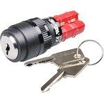 ADD16K4-AR0-2A, кнопка ключ.с фик. 250В/5А