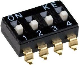 DMHA-04G-G DIP переключатель 4 поз. SMD 2.54мм (SWD4-4)