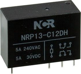 NRP13-C12DH, реле на плату 5А/240VDC 1FormC 12В 29х20х12,8мм