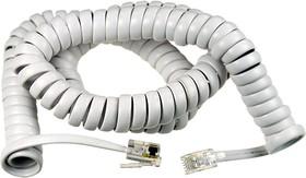 18-2041, Шнур витой телефонный для трубки 4Р4С, L=4.00м., белый