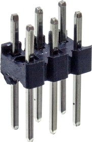 PLD- 6 вилка штыревая 2.54мм 2x3 прям KLS